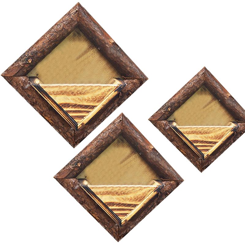 2X-Holz-Garten-Haengen-Wasserdicht-Diamant-Blumen-Topf-Blumen-Garten-Garten-G8H6