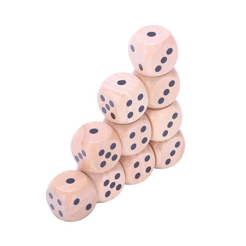 10-a-Six-Cotes-D6-Des-pour-Jeux-DE-Societe-Fait-DE-Bois-A1T8 miniature 10