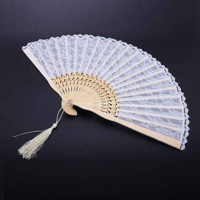 2X-Vintage-Hand-Fan-Wood-Lace-Hand-Fan-Wood-Hand-Fan-Fan-Summer-Solid-Party6S5 thumbnail 5
