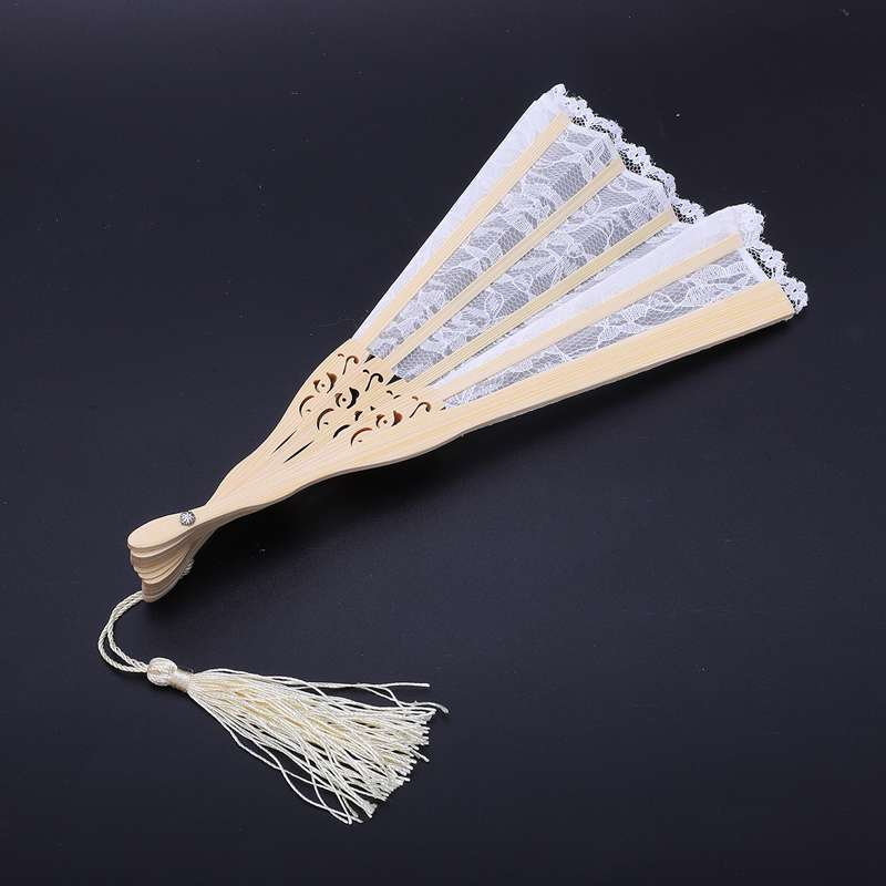 2X-Vintage-Hand-Fan-Wood-Lace-Hand-Fan-Wood-Hand-Fan-Fan-Summer-Solid-Party6S5 thumbnail 6