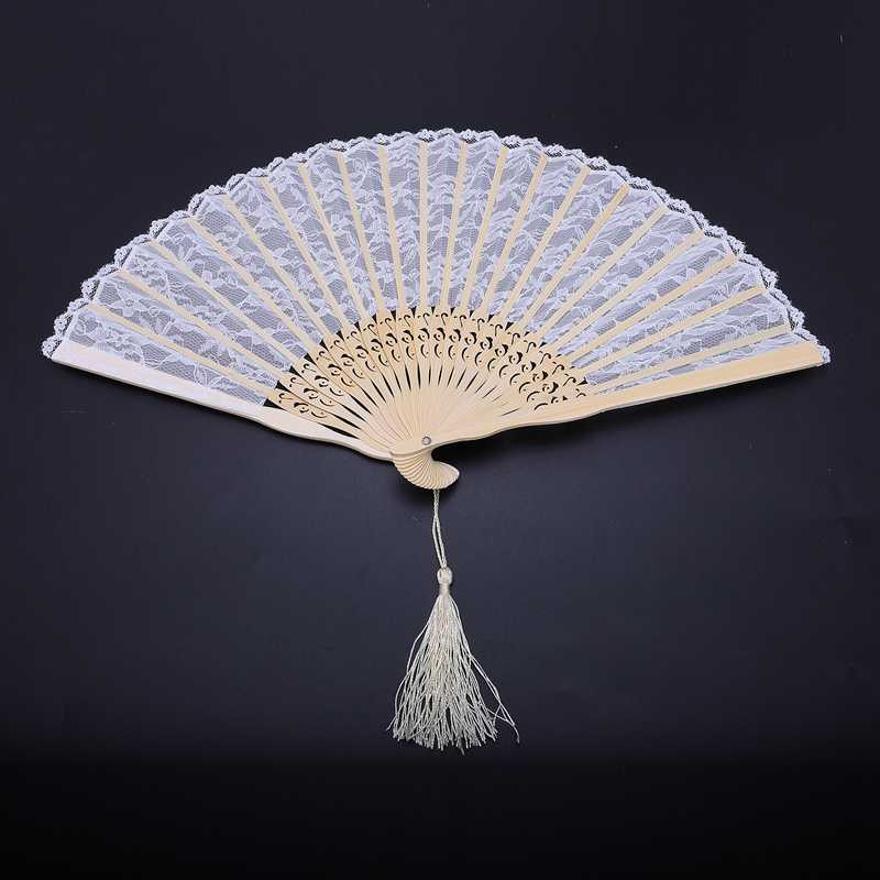 2X-Vintage-Hand-Fan-Wood-Lace-Hand-Fan-Wood-Hand-Fan-Fan-Summer-Solid-Party6S5 thumbnail 7