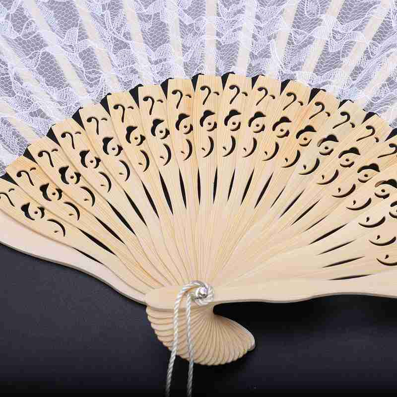 2X-Vintage-Hand-Fan-Wood-Lace-Hand-Fan-Wood-Hand-Fan-Fan-Summer-Solid-Party6S5 thumbnail 9