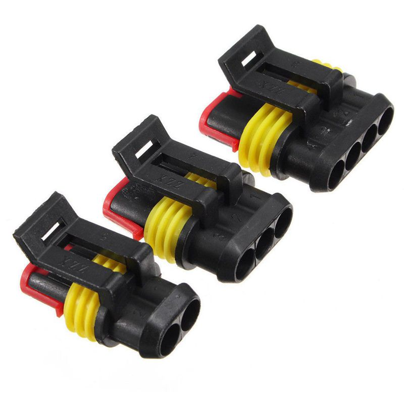 4 Pin Way Waterproof Electrical Wire Connector Plug Terminal Set Car Auto fP