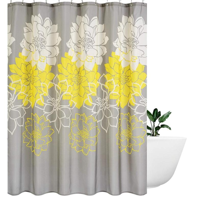 1X(Pfingstrose Blume Stoff Duschvorhang Mehltau resistent ...