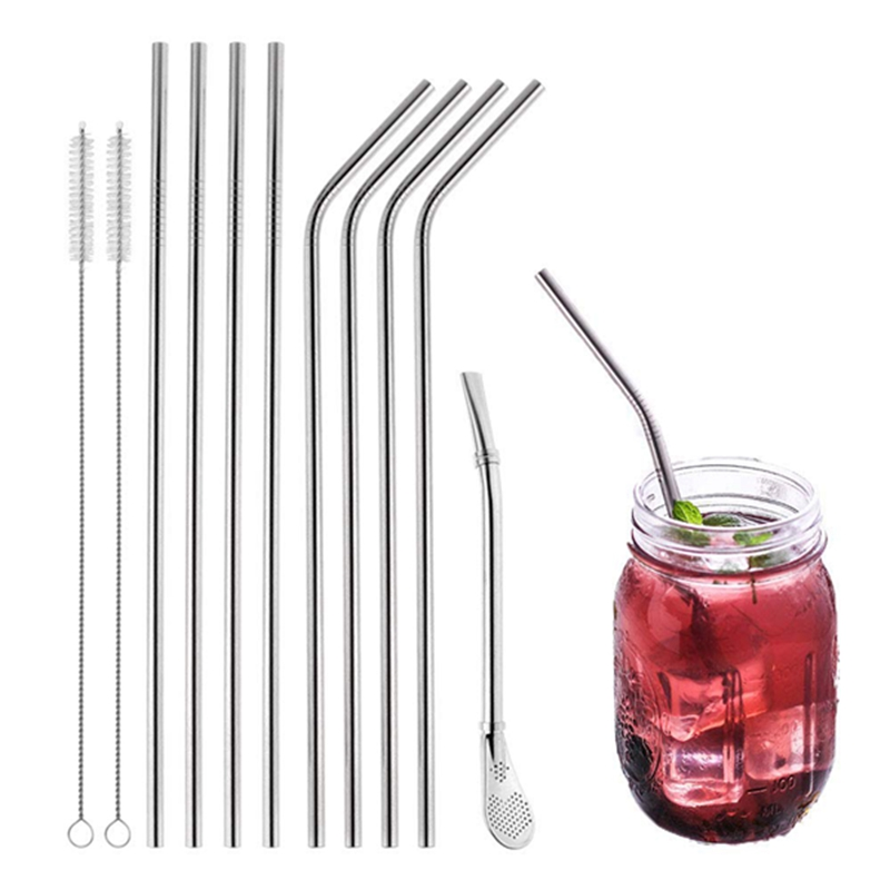 Drinking-Straws-Set-Of-12-Pieces-Stainless-Steel-Reutilisables-With-CleaninH4Q4