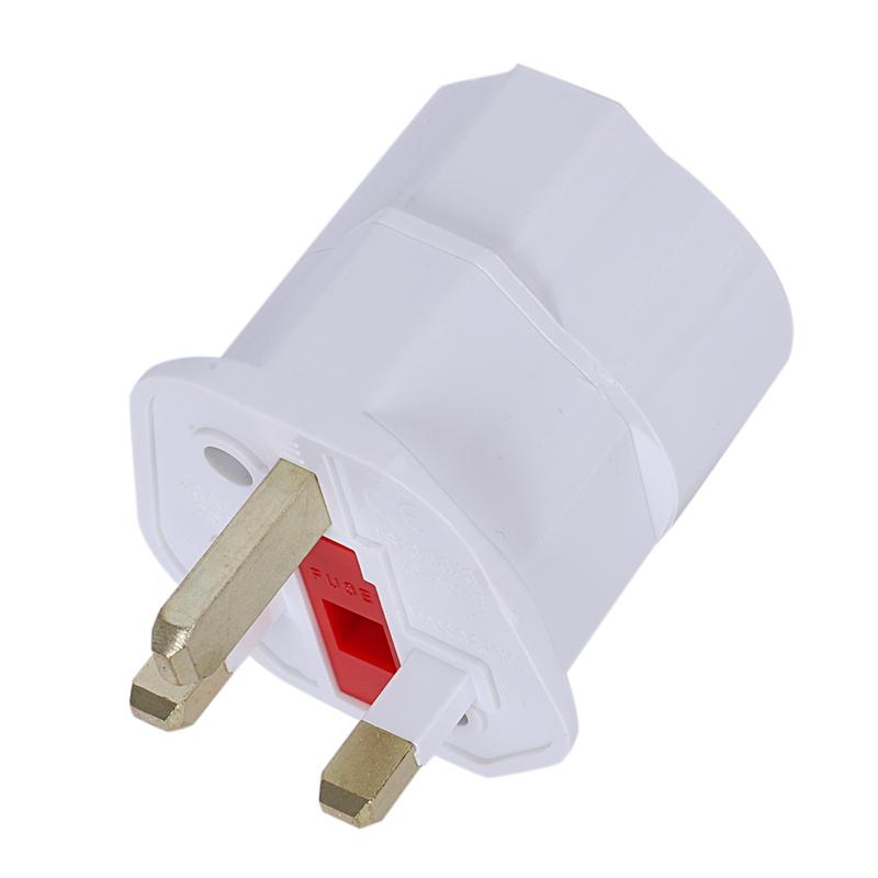 2X-Travel-Plug-Socket-Adapter-Travel-Adapter-Potenza-Germania-EU-Sul-Regno-AB miniatura 3