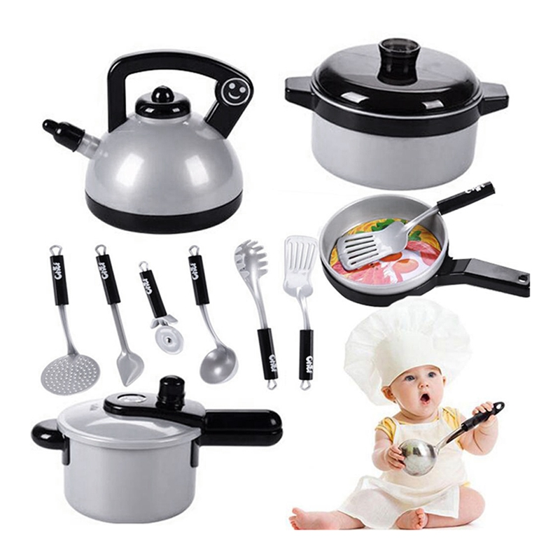 Details about Hot Sale 10Pcs Children Kitchen Toys Miniature Cooking Set  Simulation Table V5G5
