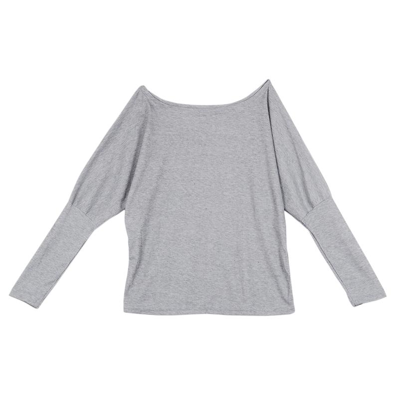 T-Shirt-Chandail-Cotele-En-Tricot-A-Longues-Manches-Une-Epaule-Sexy-Pour-Fe-E6P1 miniature 18
