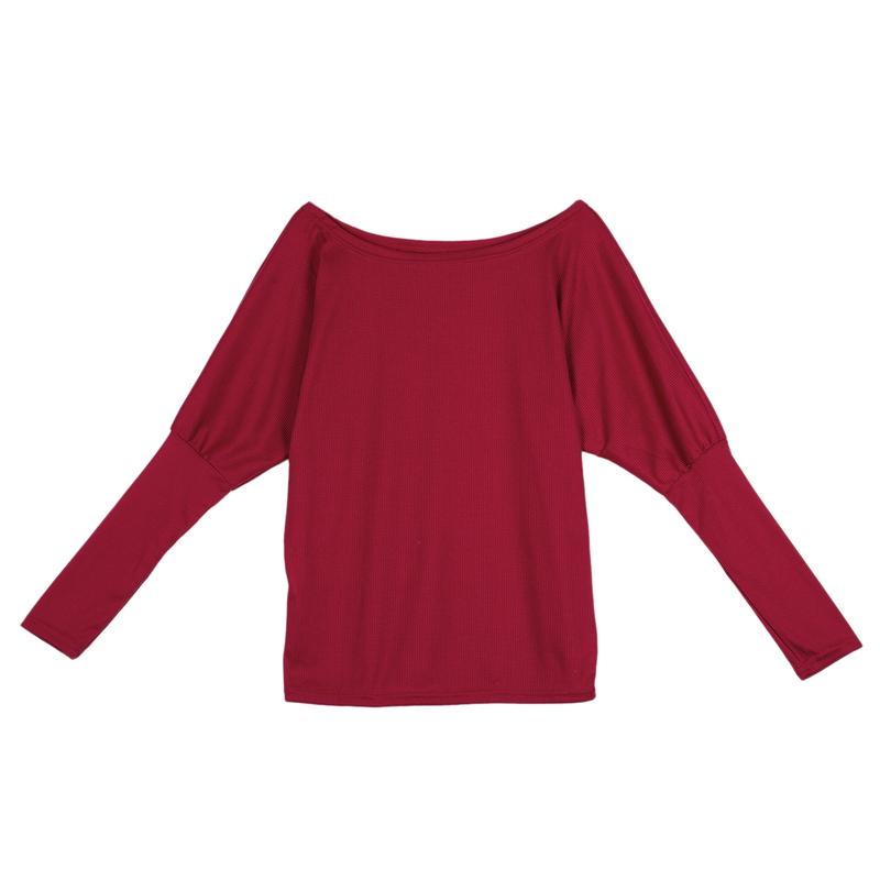 T-Shirt-Chandail-Cotele-En-Tricot-A-Longues-Manches-Une-Epaule-Sexy-Pour-Fe-E6P1 miniature 28