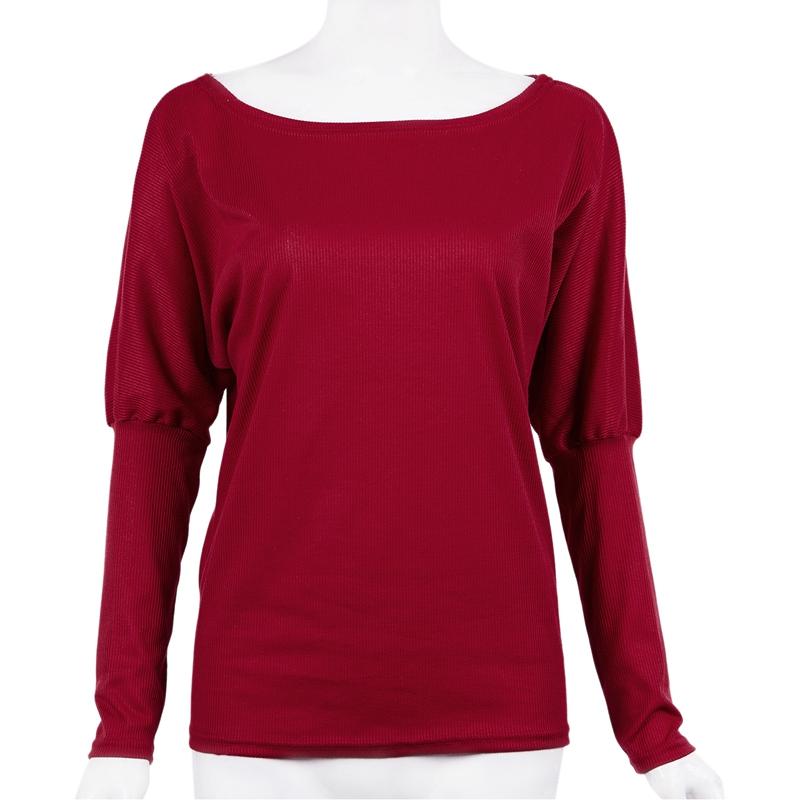 T-Shirt-Chandail-Cotele-En-Tricot-A-Longues-Manches-Une-Epaule-Sexy-Pour-Fe-E6P1 miniature 30