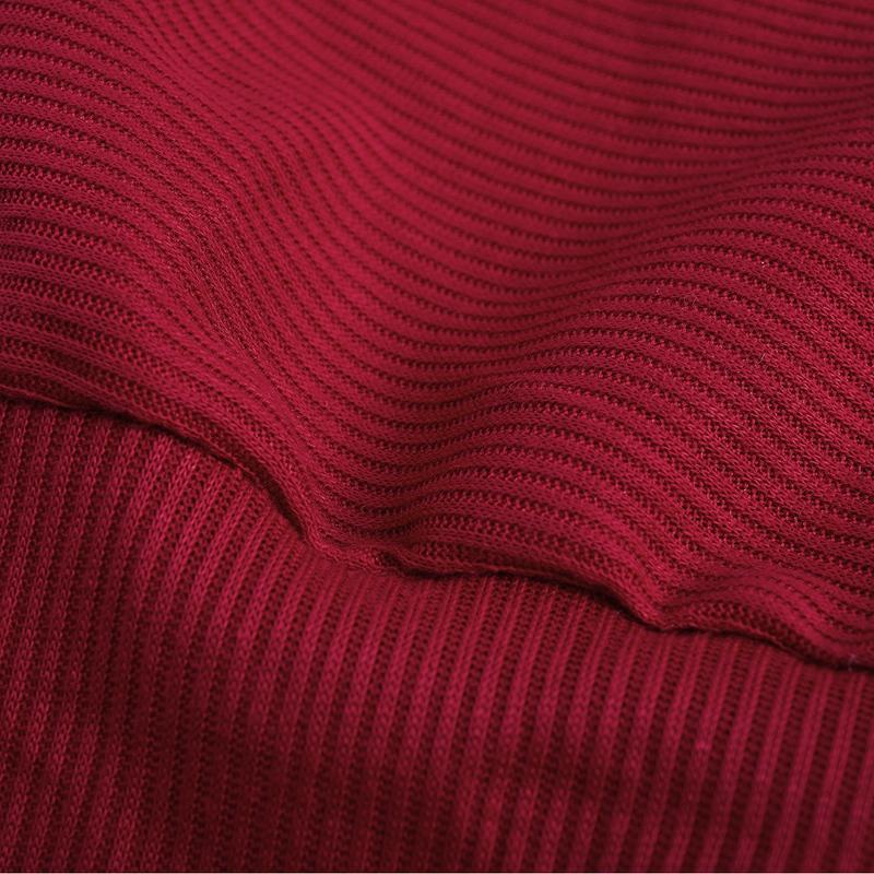 T-Shirt-Chandail-Cotele-En-Tricot-A-Longues-Manches-Une-Epaule-Sexy-Pour-Fe-E6P1 miniature 34