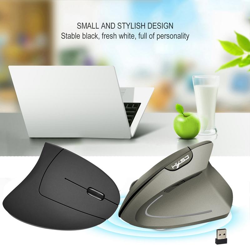 2X-Hxsj-Wireless-Mouse-Optical-2-4G-Maus-Ergonomie-800-1600-2400Dpi-HandgG1N5 Indexbild 8
