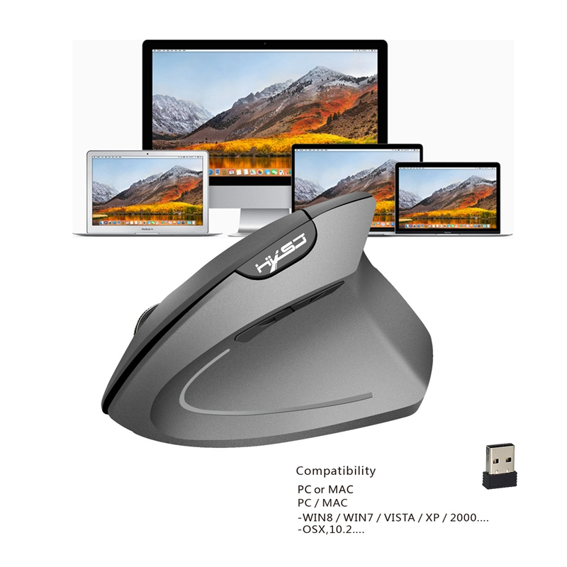 2X-Hxsj-Wireless-Mouse-Optical-2-4G-Maus-Ergonomie-800-1600-2400Dpi-HandgG1N5 Indexbild 16