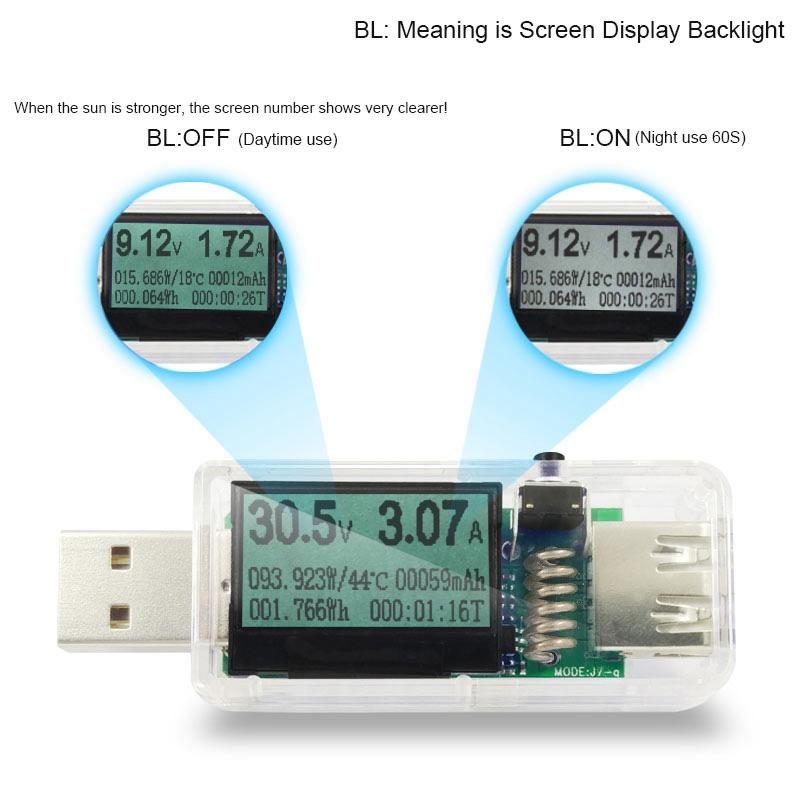 1X(12 In 1 Usb Tester Dc Digital Voltmeter Voltage Current