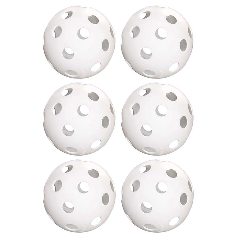 5X6Pack Of 9Inch Softballs–Perforated Practice Balls For Sports Training J2Z3