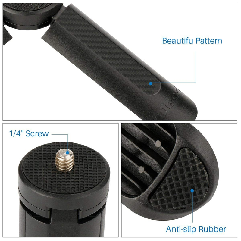 Ulanzi-Mini-Tripod-Stand-For-Selfie-Stick-Monopod-Stabilizer-On-Cellphone-D-E8M7 thumbnail 6