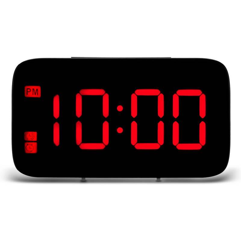 Reveil-Reveil-Numerique-Avec-Commande-Vocale-Et-Grand-Snooze-Horloge-LED-G3C3 miniature 4
