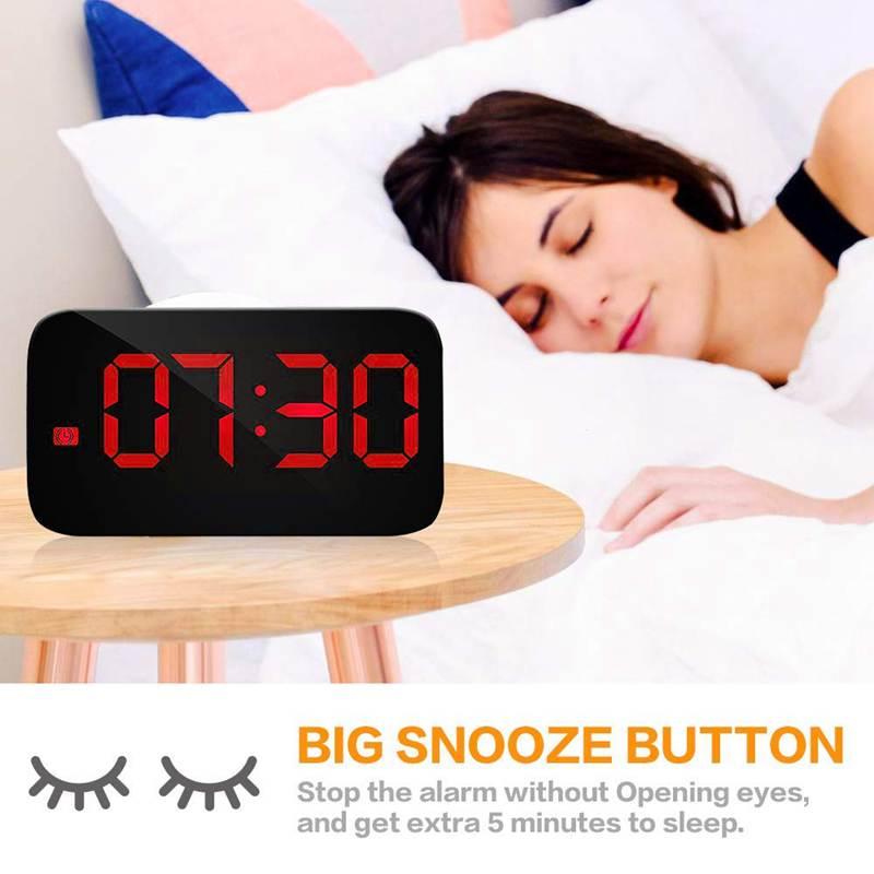 Reveil-Reveil-Numerique-Avec-Commande-Vocale-Et-Grand-Snooze-Horloge-LED-G3C3 miniature 6