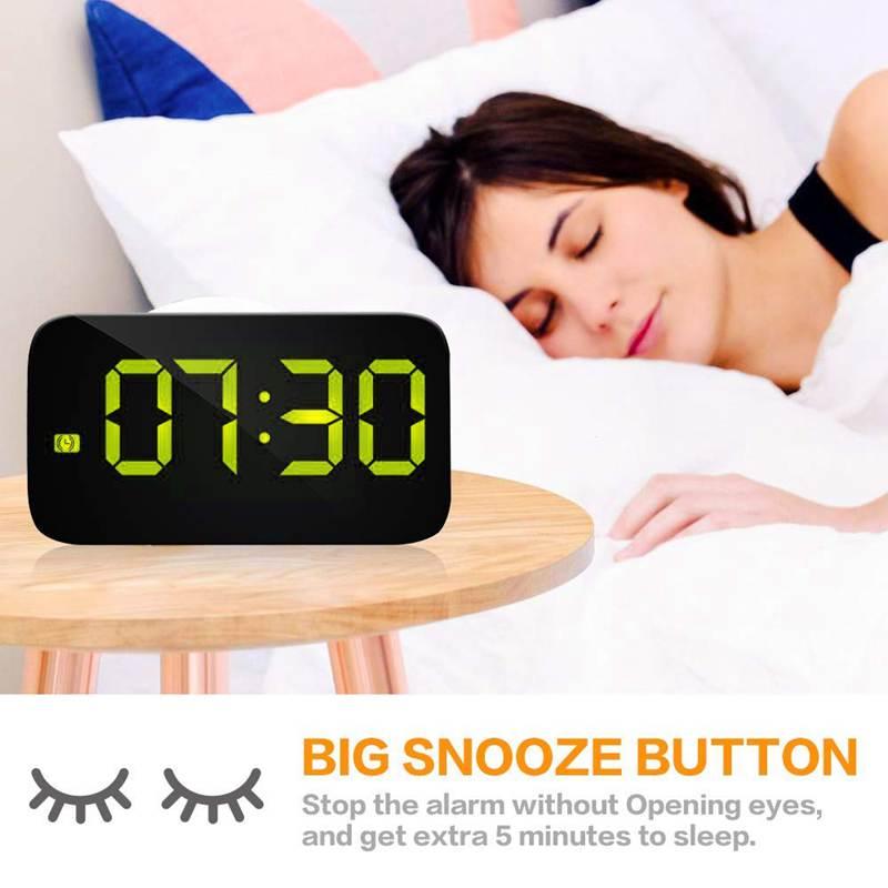 Reveil-Reveil-Numerique-Avec-Commande-Vocale-Et-Grand-Snooze-Horloge-LED-G3C3 miniature 15