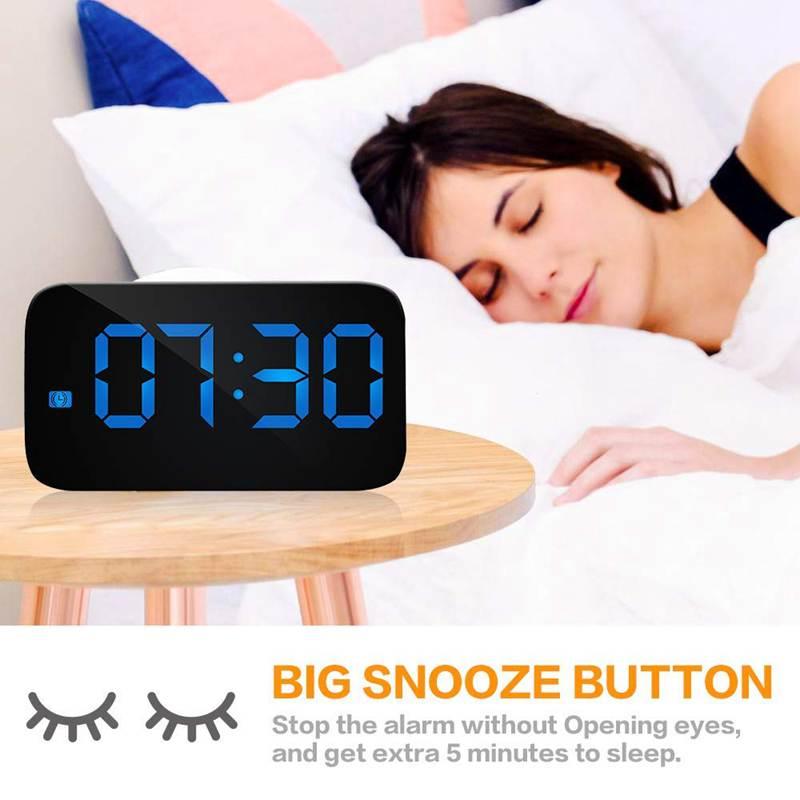 Reveil-Reveil-Numerique-Avec-Commande-Vocale-Et-Grand-Snooze-Horloge-LED-G3C3 miniature 22