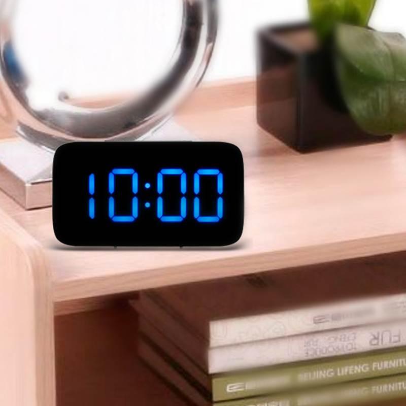 Reveil-Reveil-Numerique-Avec-Commande-Vocale-Et-Grand-Snooze-Horloge-LED-G3C3 miniature 27