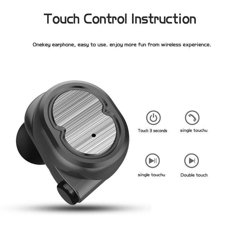 Tws-Contact-Mini-True-Bluetooth-Sans-Fil-Ecouteurs-Jumeaux-Casque-Ecouteur-V5B3 miniature 3