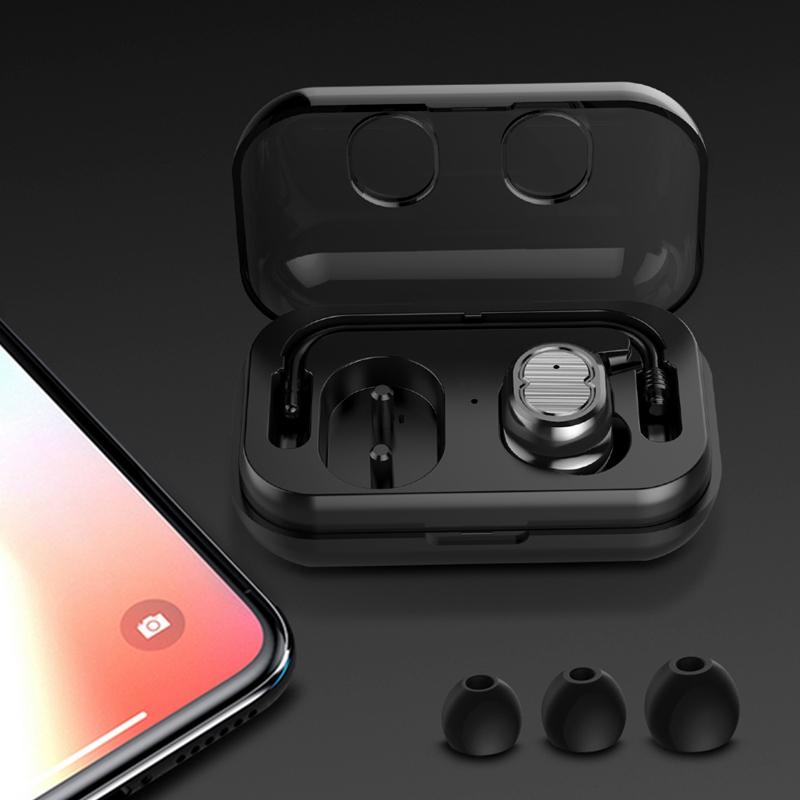 Tws-Contact-Mini-True-Bluetooth-Sans-Fil-Ecouteurs-Jumeaux-Casque-Ecouteur-V5B3 miniature 8