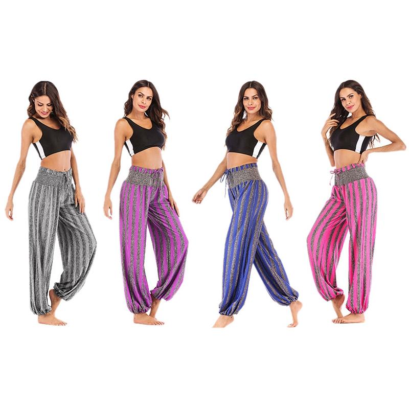 Sueltos Hip Pantalones Detalles Hop De A Raya Baile P4w3 Mujer Harem Cintura Yoga D Elástica sCBrthQdx