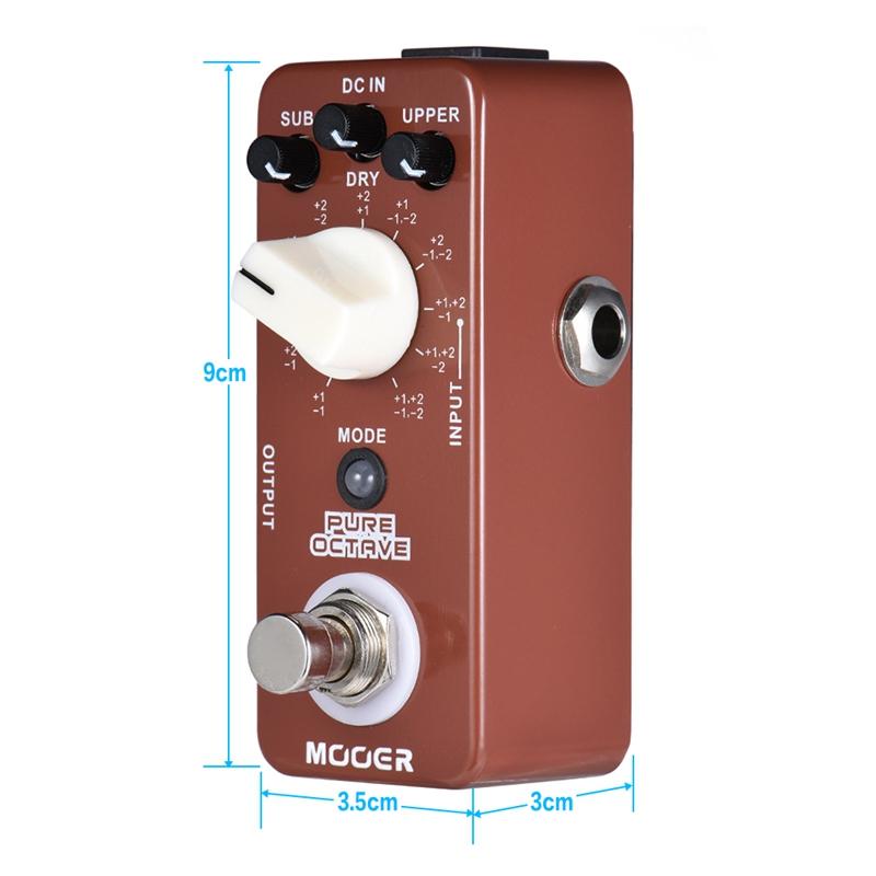 mooer pure octave mini octave guitar effect pedal 11 octave modes true bypa p3z3 ebay. Black Bedroom Furniture Sets. Home Design Ideas