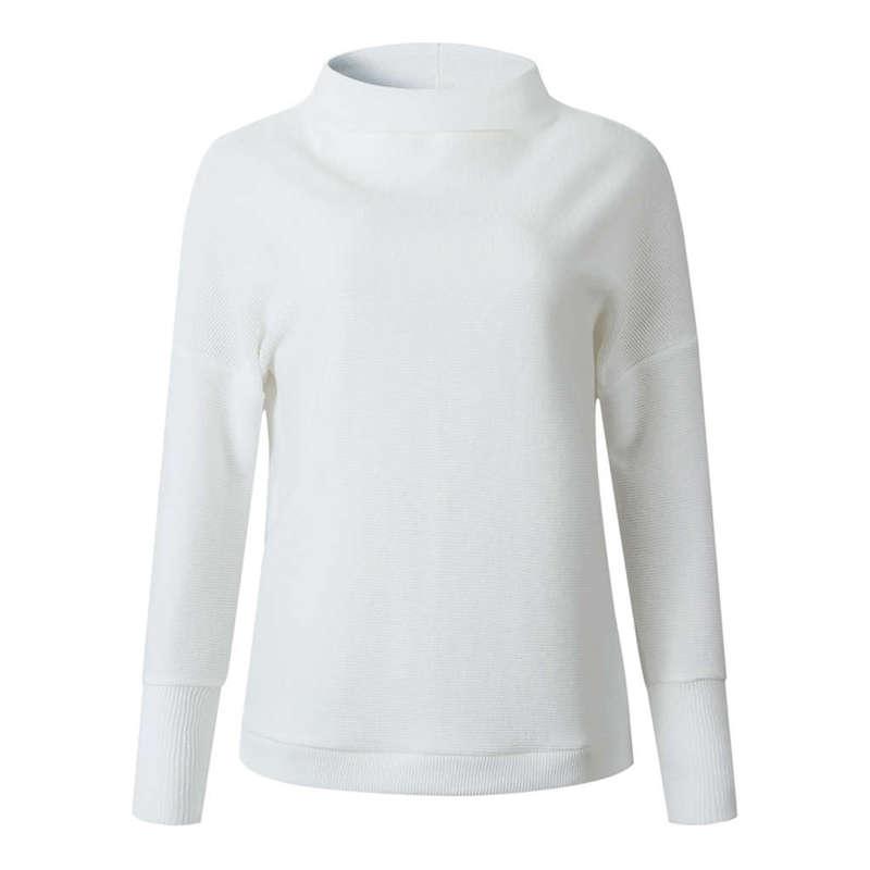 Femmes-Automne-Mode-Col-Roule-A-Manches-Longues-En-Tricot-T-Shirt-Dames-Dec-V3Z9 miniature 6