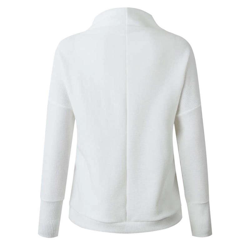 Femmes-Automne-Mode-Col-Roule-A-Manches-Longues-En-Tricot-T-Shirt-Dames-Dec-V3Z9 miniature 7
