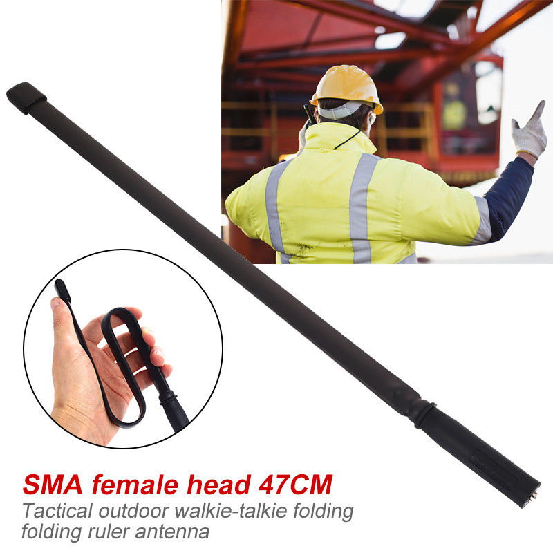 F010 Tactical Walkie Talkie Antenna SMA-Male 144//430Mhz Foldable CS Game Antenna