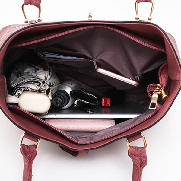 3-Pcs-Sacs-En-Cuir-Sacs-A-Main-Pour-Femmes-Celebre-Sac-A-Bandouliere-Femme-O2O8 miniature 9