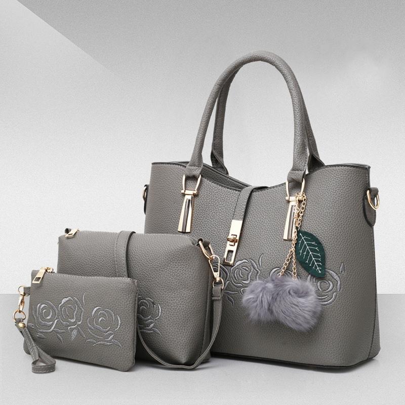 3-Pcs-Sacs-En-Cuir-Sacs-A-Main-Pour-Femmes-Celebre-Sac-A-Bandouliere-Femme-O2O8 miniature 17