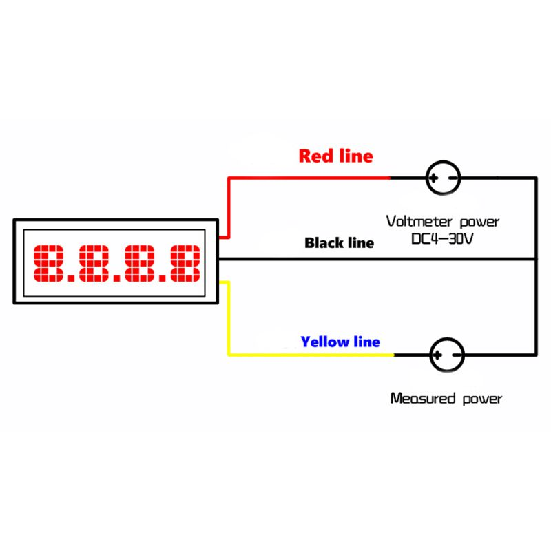 5 StüCke Mini Digital DC Voltmeter 0,28 Zoll Zwei-Draht 2,5 V-30 V Mini Dig S7R4