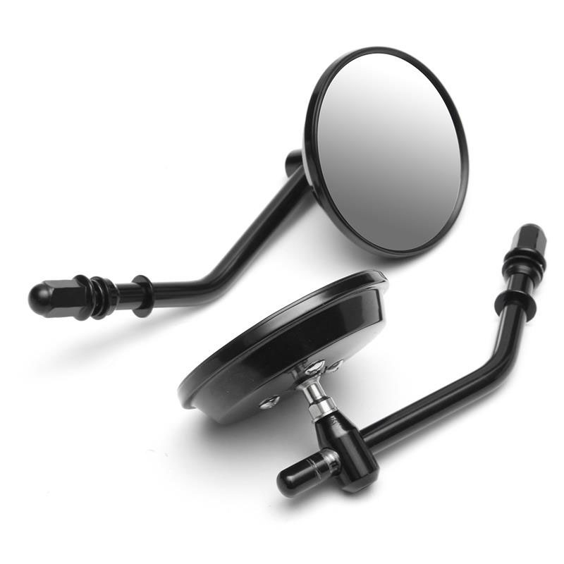 Black Motorcycle 8mm Rearview Mirrors For Harley Davidson XL Sportster 1200 883