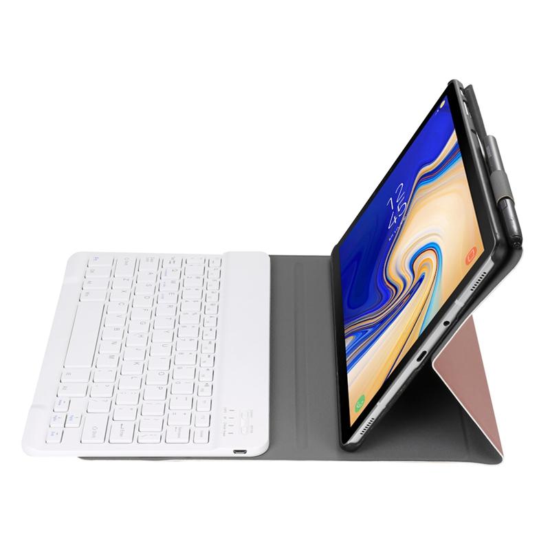 Keyboard-Case-For-Samsung-Galaxy-Tab-S4-10-5-2018-Model-Sm-T830-T835-T837-U4R5 thumbnail 4