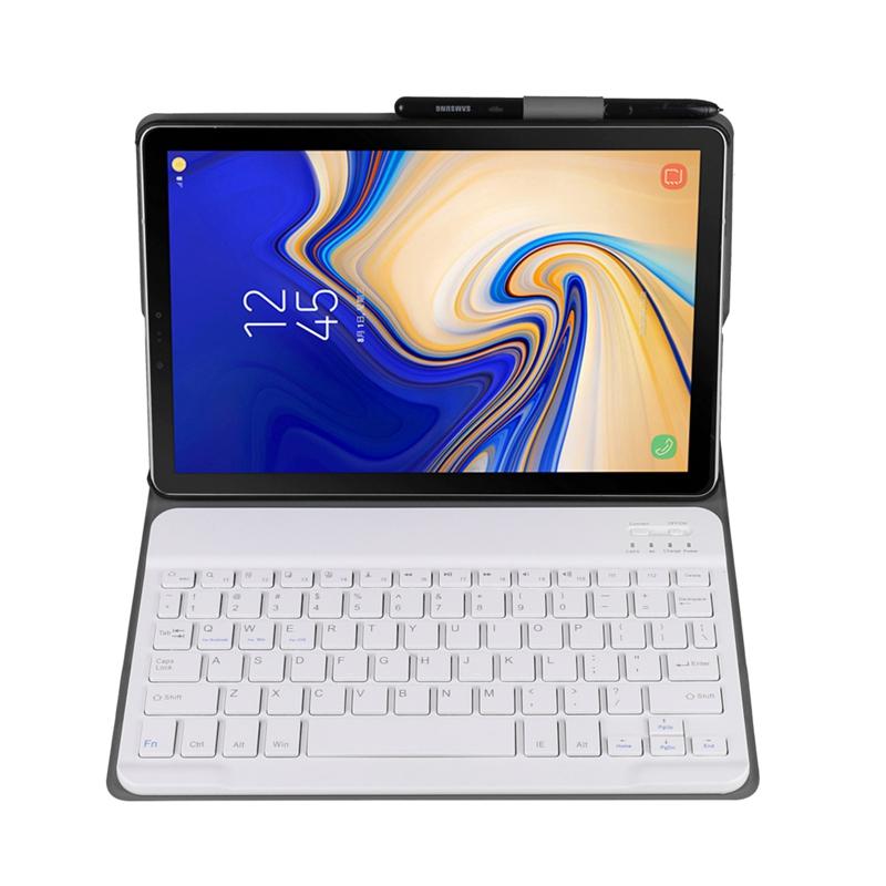 Funda-Con-Teclado-Para-Samsung-Galaxy-Tab-A-10-5-2018-Modelo-Sm-T590-T595-Z9J9 miniatura 9