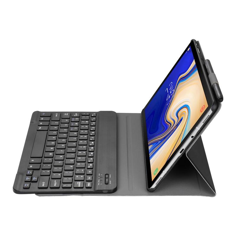 Funda-Con-Teclado-Para-Samsung-Galaxy-Tab-A-10-5-2018-Modelo-Sm-T590-T595-Z9J9 miniatura 21