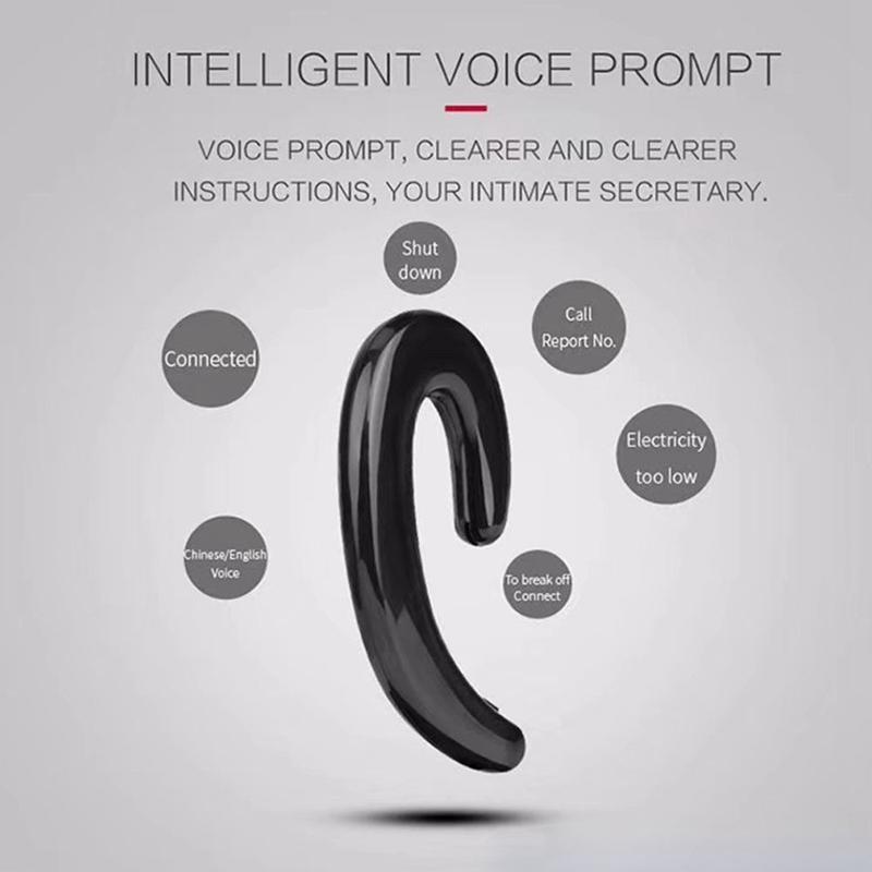 S103-Drahtlos-Bluetooth-Ohr-Buegel-Stereo-Ohr-Clip-Kopfhoerer-Fuer-Smartphone-W7R9 Indexbild 7