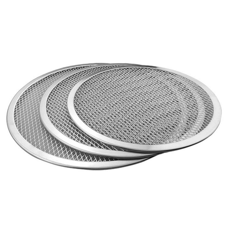 Four-A-Pizza-Rond-Professionnel-Plaque-de-Cuisson-Filet-Antiadhesif-Pour-Gr-N9Y3 miniature 3