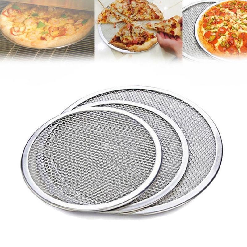 Four-A-Pizza-Rond-Professionnel-Plaque-de-Cuisson-Filet-Antiadhesif-Pour-Gr-N9Y3 miniature 4