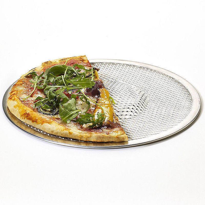 Four-A-Pizza-Rond-Professionnel-Plaque-de-Cuisson-Filet-Antiadhesif-Pour-Gr-N9Y3 miniature 6