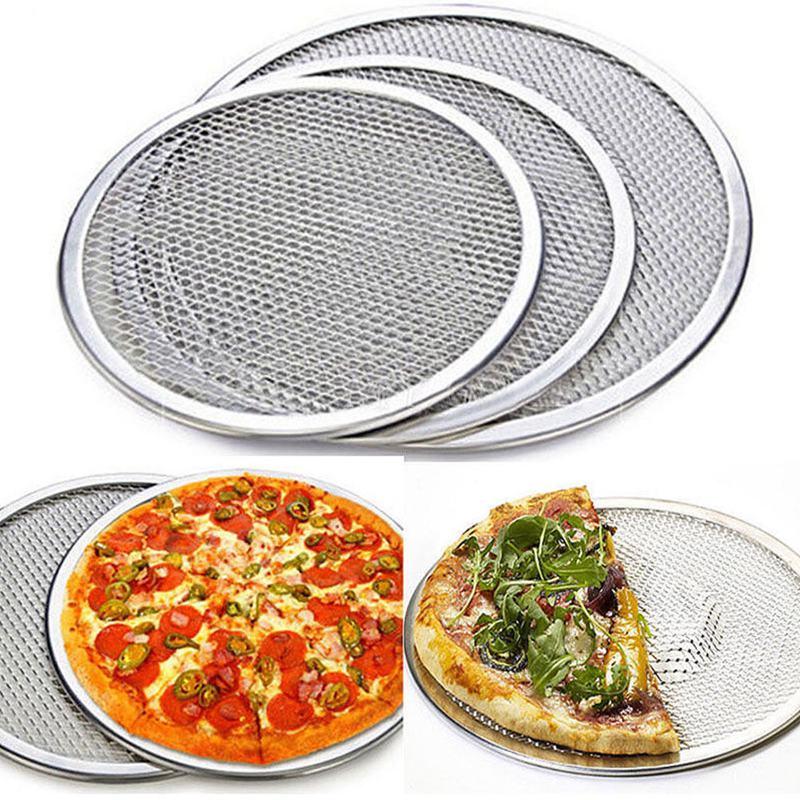 Four-A-Pizza-Rond-Professionnel-Plaque-de-Cuisson-Filet-Antiadhesif-Pour-Gr-N9Y3 miniature 7