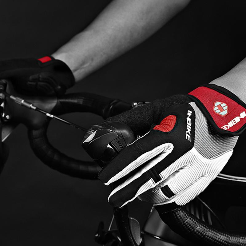 Inbike-Bicyclette-Velo-Gants-De-Velo-Doigt-Complet-Gel-Rembourre-Sports-De-P-1J2 miniature 9