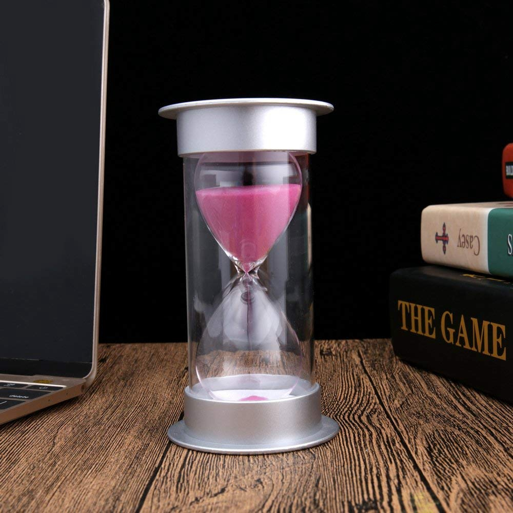 Sablier-de-5-Minutes-Timer-Sable-Moderne-Avec-Du-Sable-Pour-Le-Bureau-de-Ma-T4U4 miniature 7