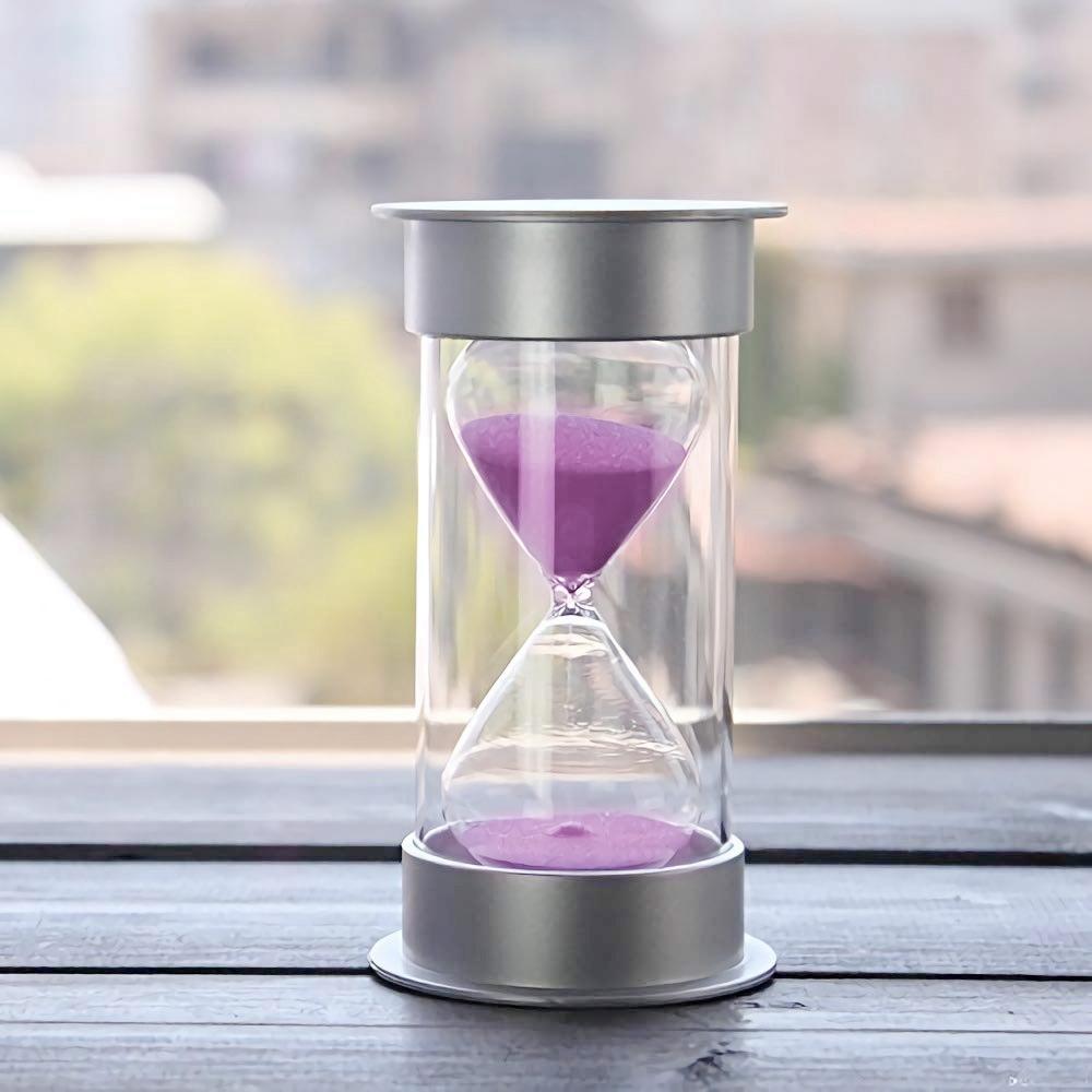 Sablier-de-5-Minutes-Timer-Sable-Moderne-Avec-Du-Sable-Pour-Le-Bureau-de-Ma-T4U4 miniature 11
