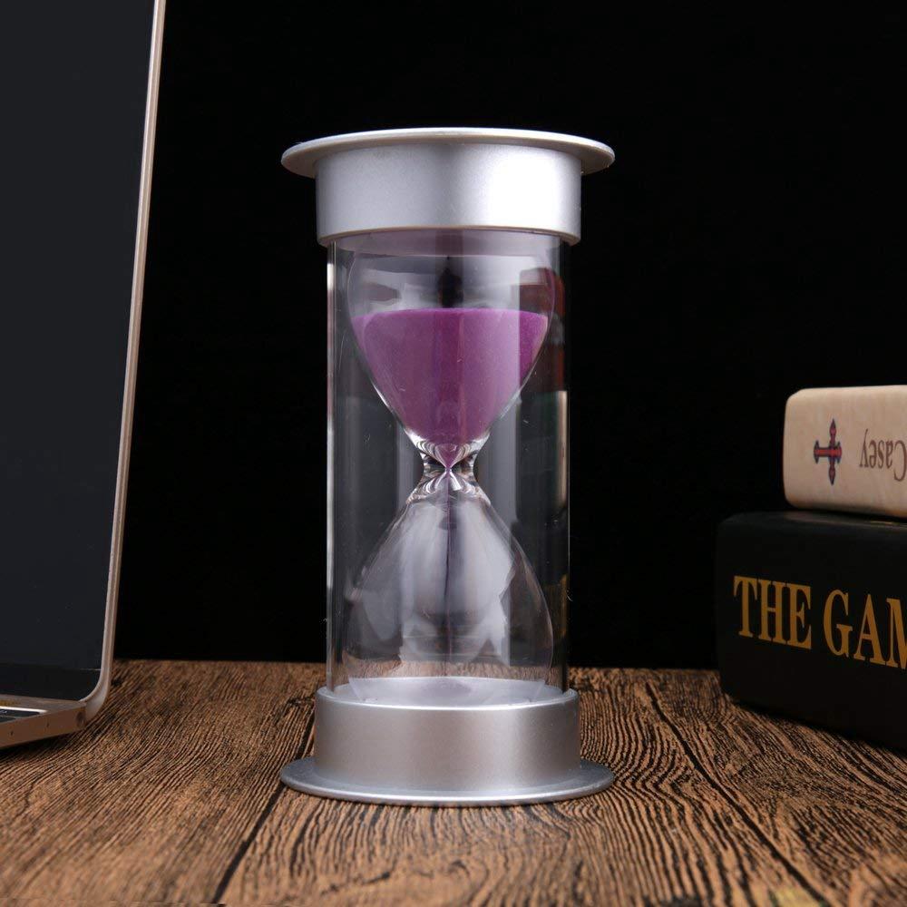 Sablier-de-5-Minutes-Timer-Sable-Moderne-Avec-Du-Sable-Pour-Le-Bureau-de-Ma-T4U4 miniature 12
