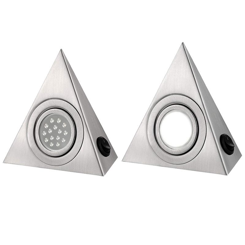 Details zu 1 Stück Küchen Schrank Unter Dreieck LED Licht Edelstahl Rohr  Lampe P1Q6