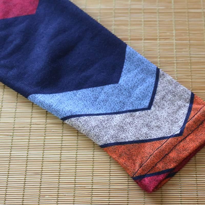 Moda-de-Otono-Para-Mujer-Camiseta-Estampada-Ondulado-Geometrico-de-Manga-La-X4X1 miniatura 5